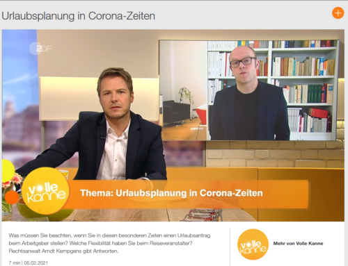 5.2.21: Reiserecht live beim ZDF mit RA Kempgens im Interview. Alle aktuellen Rechtsfragen zum Thema Reisen: