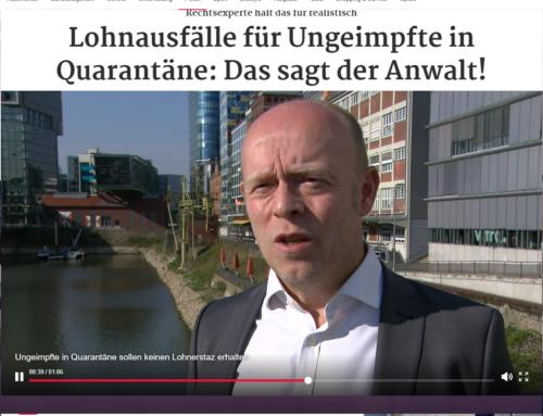 9.9.2021: Kein Lohn für Nicht-Geimpfte im Quarantänefall? Spahn-Vorstoß in der Diskussion. RA Kempgens bei RTL und Tagesschau.de