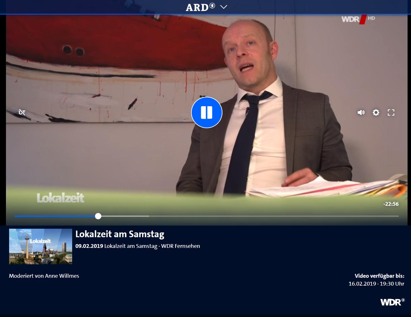 WDR/ARD Lokalzeit am Samstag 9.2.: Was tun bei krank im Job. RA Kempgens mit den wichtigsten Tipps.