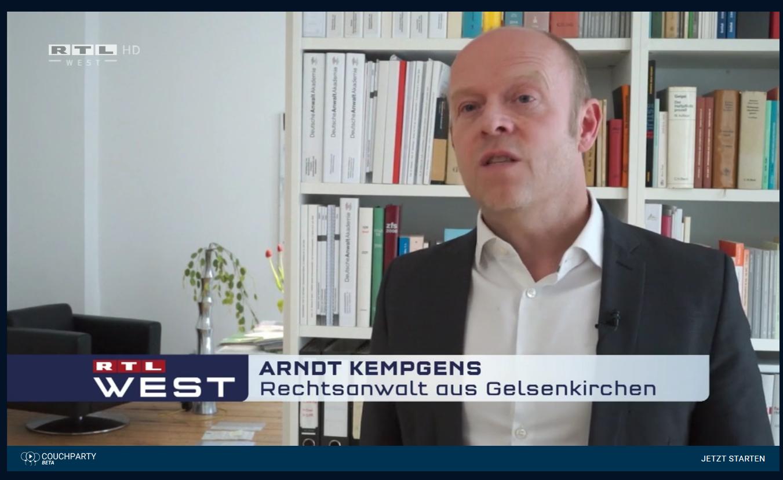 RTL 21.4.21: Schadensersatz nach falschem Baubescheid. Der kuriose Fall mit RA Kempgens im Interview..