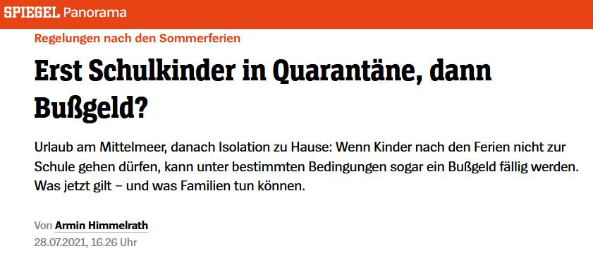 28.7. Corona-Knöllchen für Quarantäne-Schulkinder? Alle Infos zum Thema sowie das Spiegel-online Interview mit RA Kempgens.